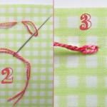 La double aiguillée sans nœud
