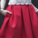 La jupe à gros plis