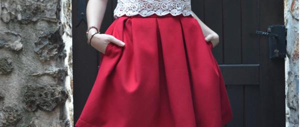fashionmicmac-jupe à gros plis UNE