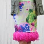 La jupe à plumes