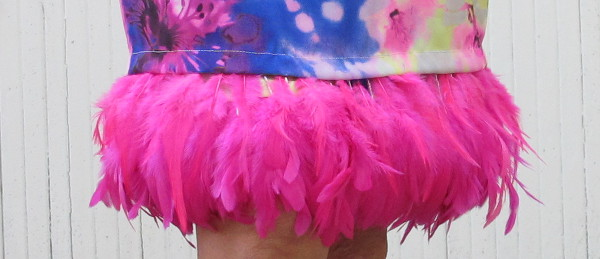 fashionmicmac- jupe plumes ourlet