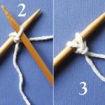 Tricot : monter les mailles avec 2 aiguilles