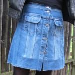 La jupe trapèze récup' de jean