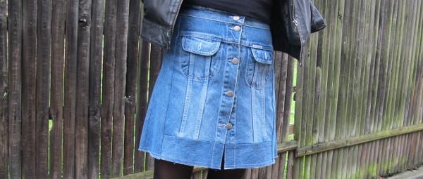 fashionmicmac-jupe recup' jean UNE