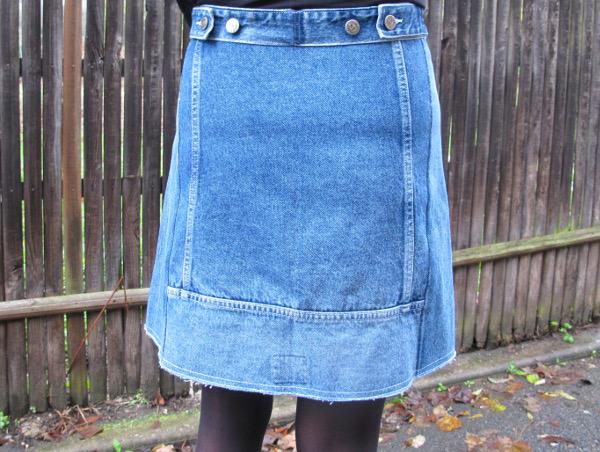 fashionmicmac-jupe récup' jean dos