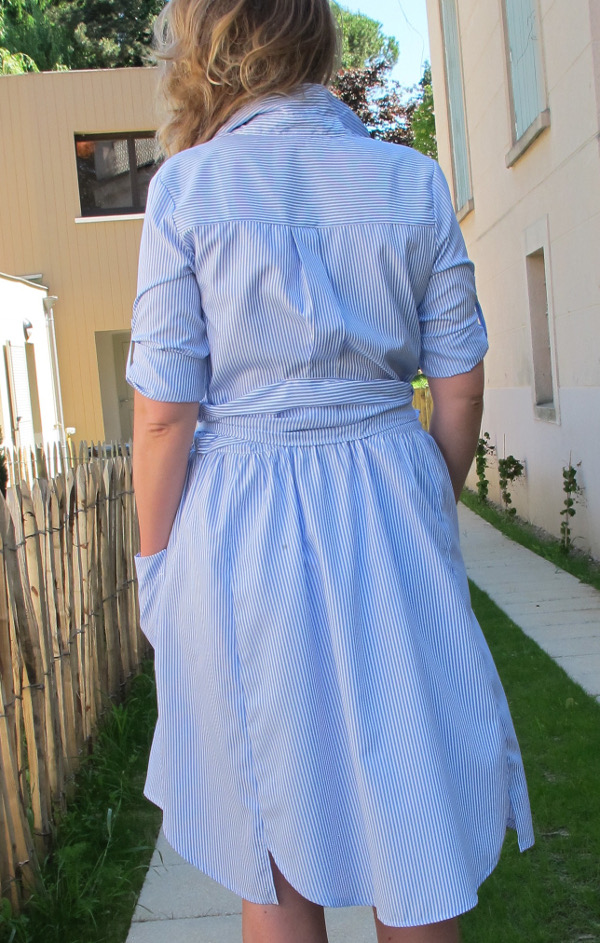 fashionmicmac-robe rayures chemise dos