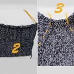 Tricot : emmanchures raglan sans coutures